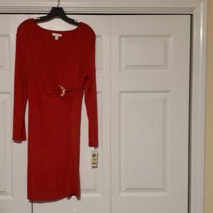Red dress size petite medium